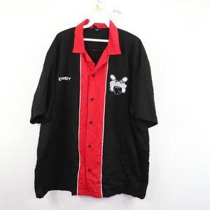 Vintage Mens XL Daisy Rockabilly Bowling Shirt